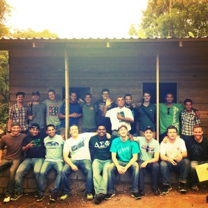 The House Delta Sigma Phi helped to build